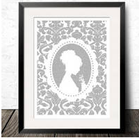 Book Text Poster, Emma by Jane Austen, Unframed