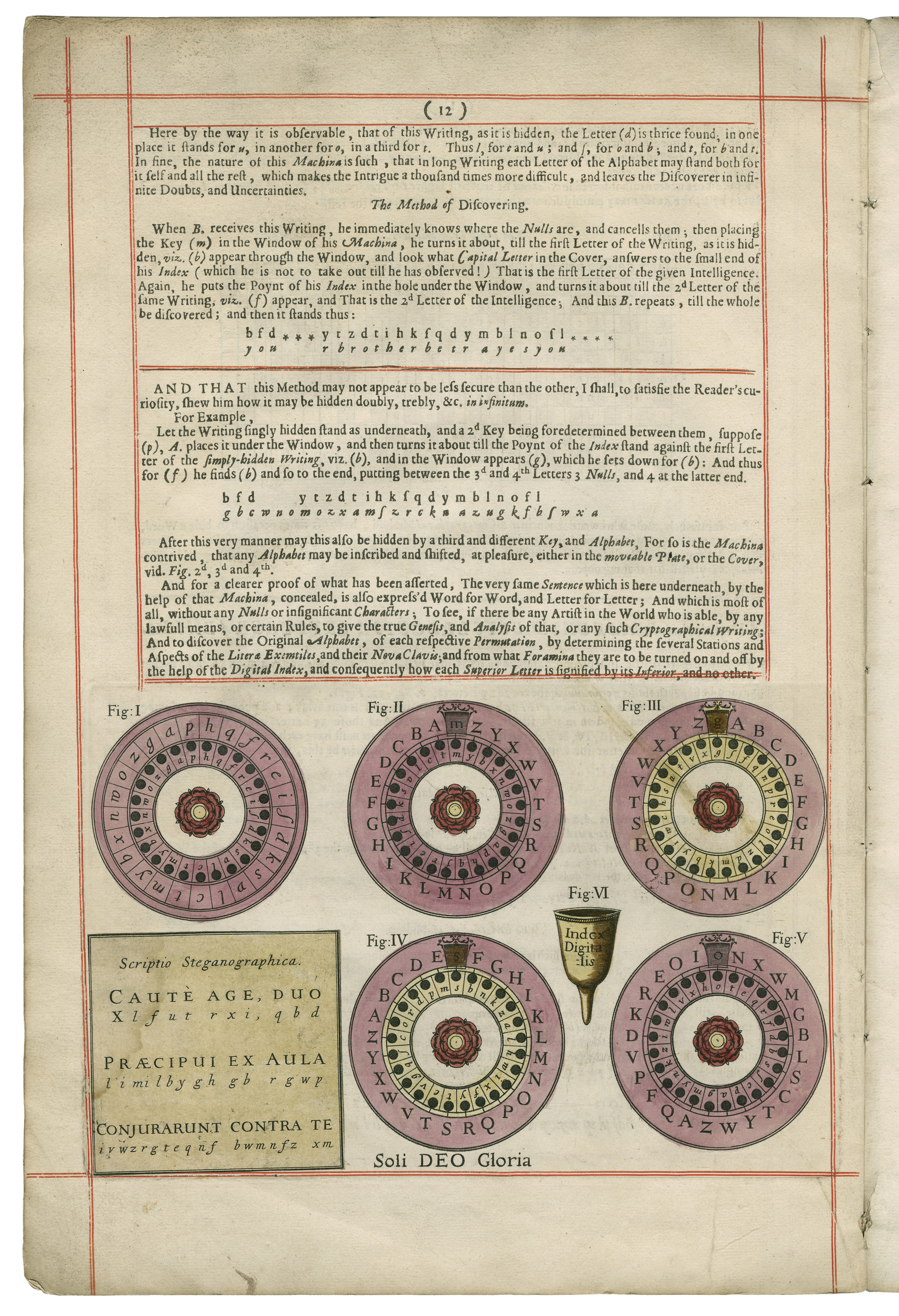 Johannes Trithemius. Polygraphie et universelle escriture caba. Folger Shakespeare Library.