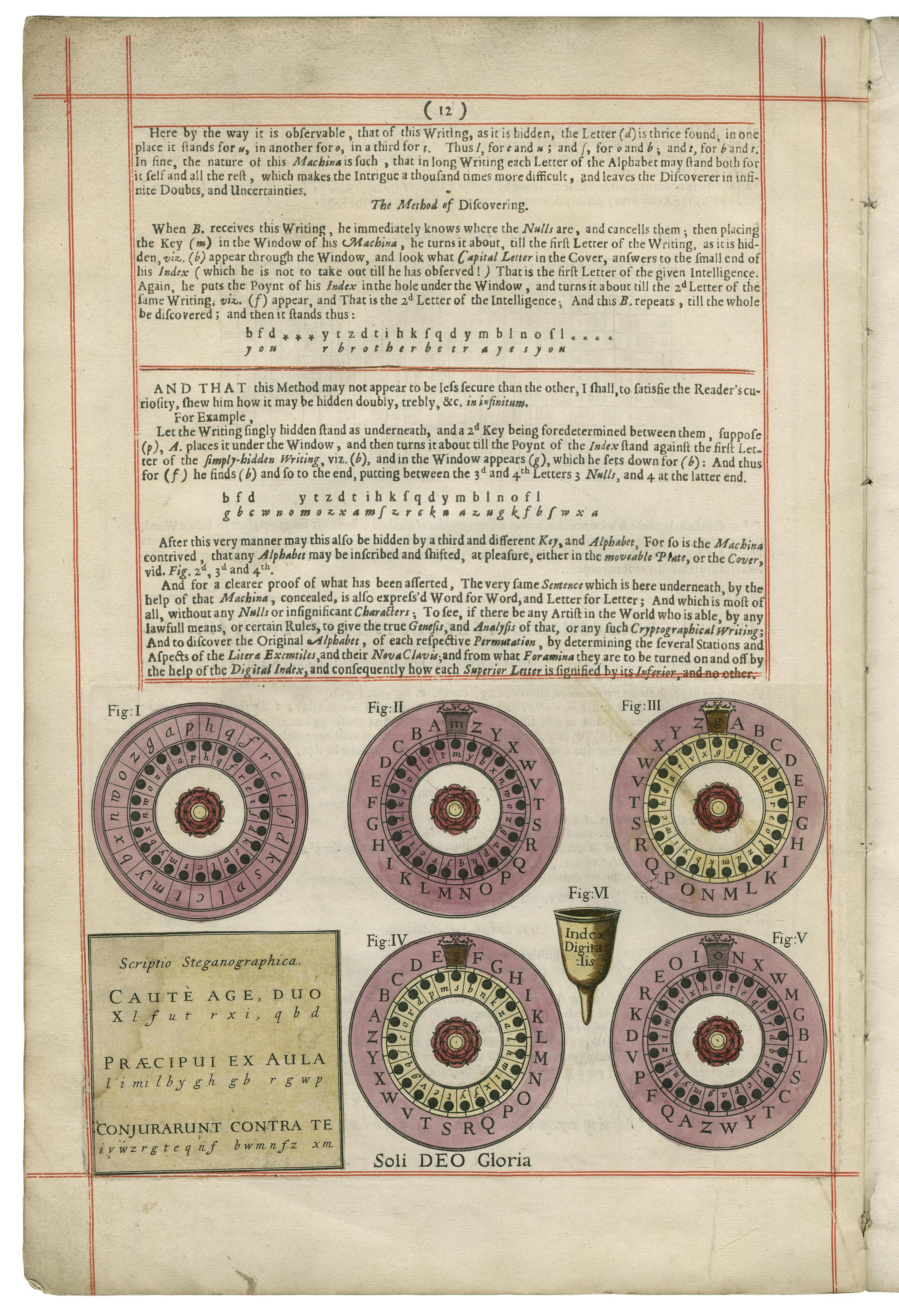 Johannes Trithemius. Polygraphie et universelle escriture caba. Folger Shakespeare Library.