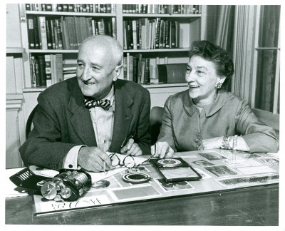 William F. Friedman and Elizebeth S. Friedman, ca. 1957. 310 2nd Street SE, Washington, DC. Photo by Walter Bennett.