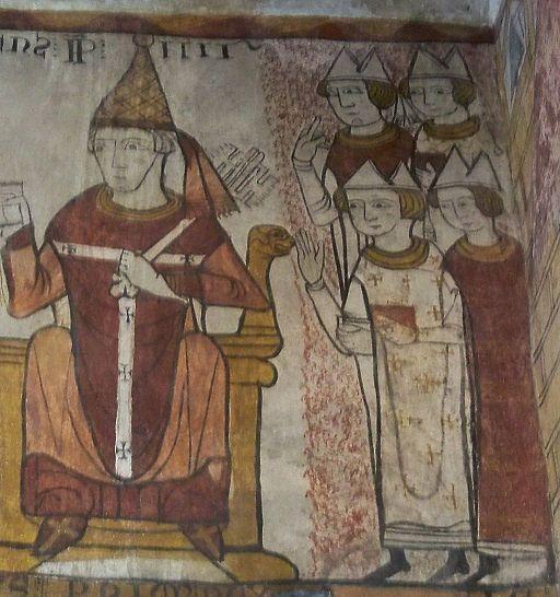 Français: Pape Clément IV (Fresque de la Tour Ferrande à Pernesles Fontaine, Vaucluse, France) Photo credit: Wikipedia.