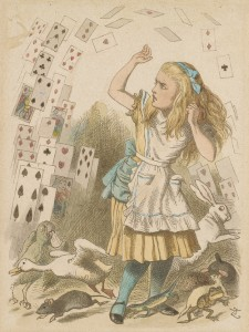 Tenniel, John, 1820-1914, Shower of Cards [print], 19th century, 1 print, 2005.203