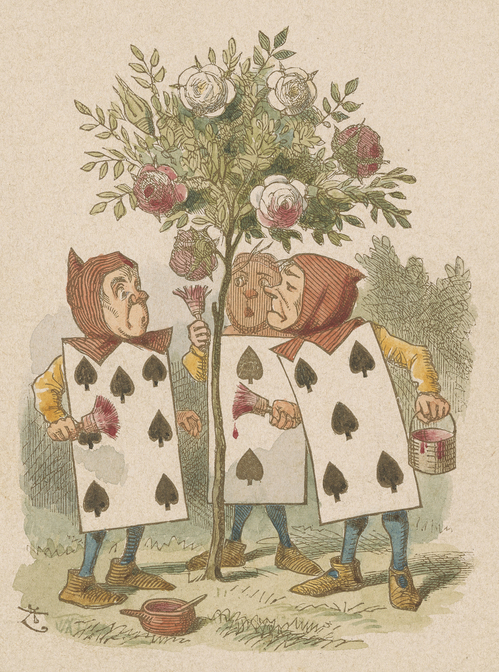 Tenniel, John, 1820-1914, Painting the Roses [print], 19th century, 1 print, 2005.199