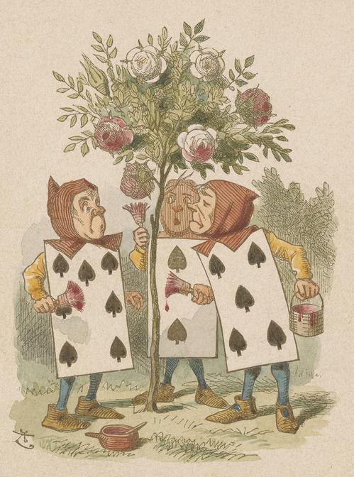 Tenniel, John, 1820-1914, Painting the Roses [print], 19th century, 1 print, 2005.199