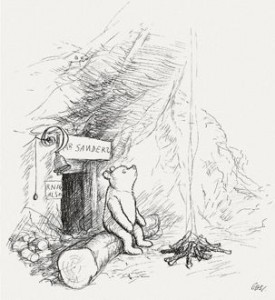 """""""Winnie-the-Pooh lived in a forest all by himself under the name of Sanders."""""""