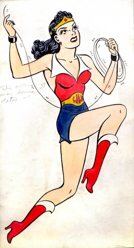 H. G. Peter, Drawing of Wonder Woman in Costume, ca. 1941. Courtesy of Metropoliscomics.com.