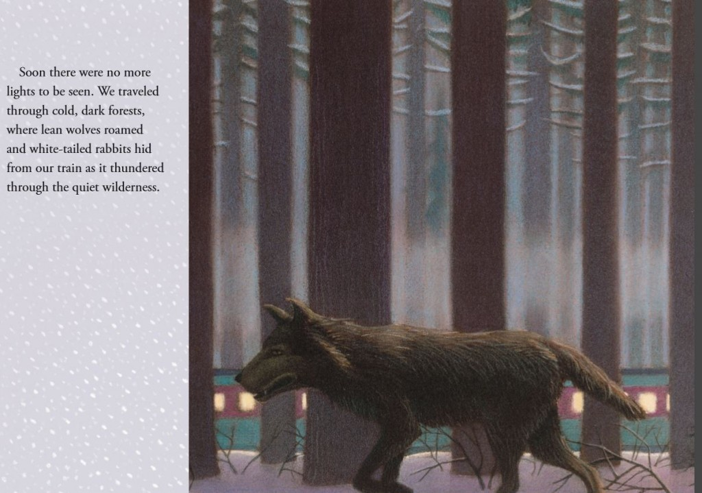 Copyright 1985 Chris Van Allsburg, The Polar Express. Reproduced with permission from Houghton Mifflin.