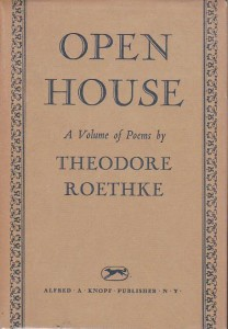 open house roethke first edition