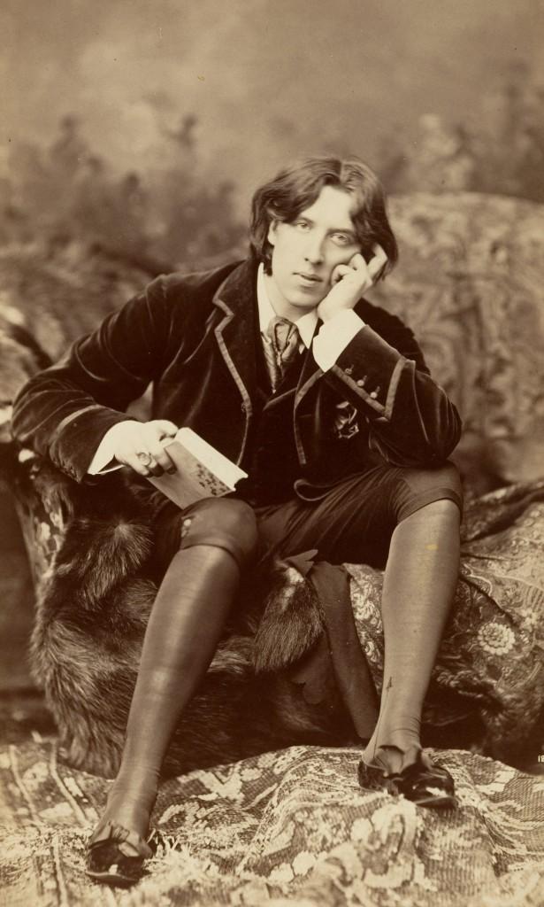 """Oscar Wilde, image taken by Napoleon Sarony. From """"Gathering Wilde-flowers"""" on Biblio"""