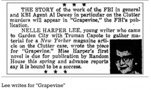Found: Harper Lee Article for FBI Magazine on Kansas Murders -from FB&C and Biblio.com Rare Finds