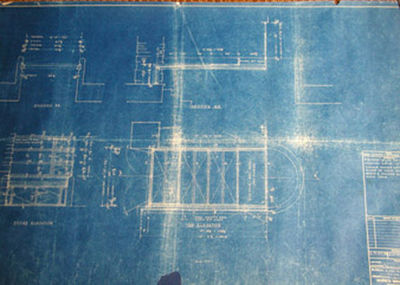 An incredible find, the original 12 blueprints for the most important architectural marvel in history - Falling Water by Frank Lloyd Wright.