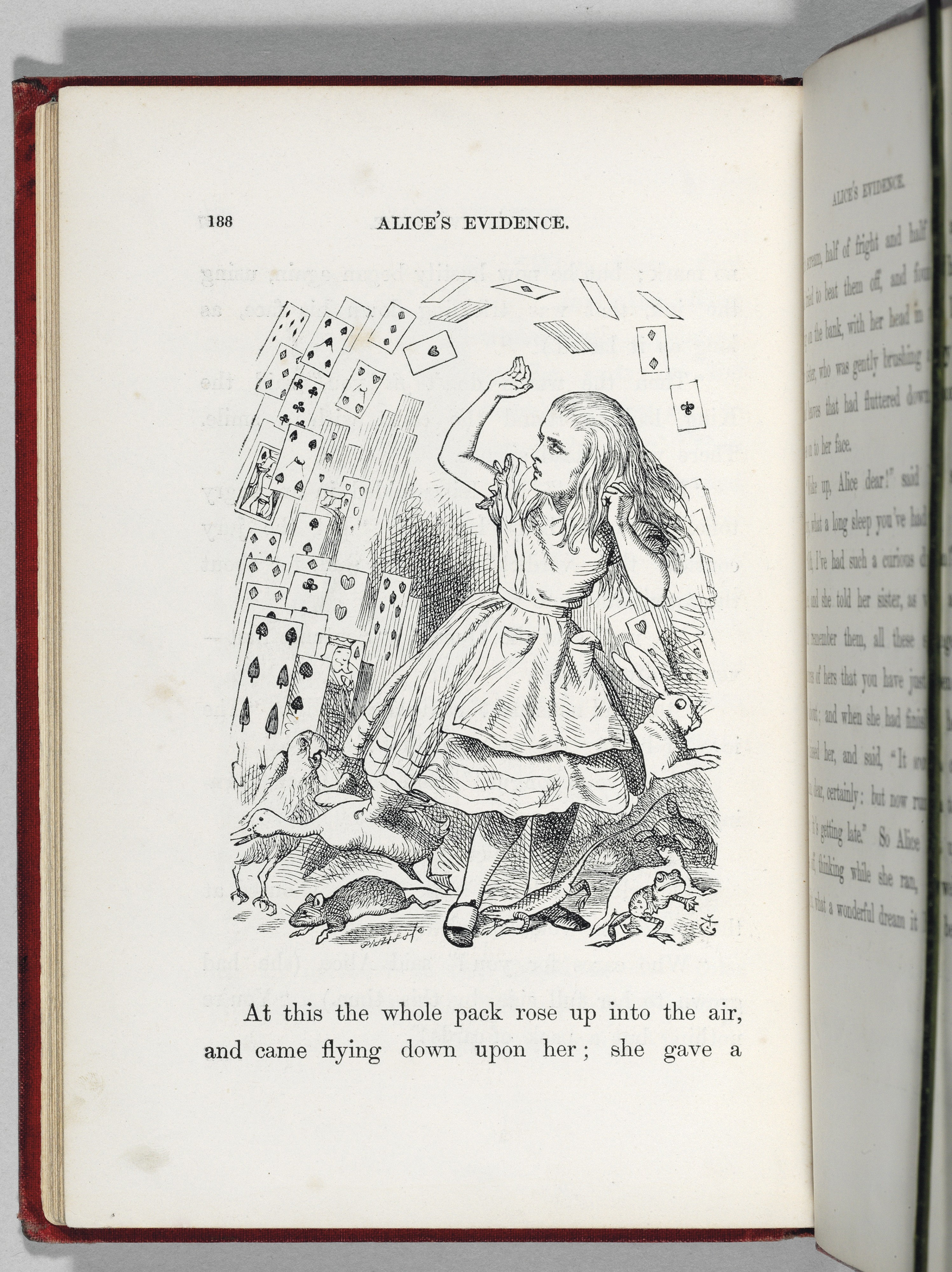 One of the images Tenniel declared entirely dissatistactory, leading to the recall of the entire first edition. Credit: Christie's Images LTD.