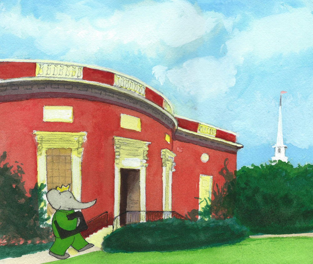 Babar Brings his ABC to Houghton Library crop