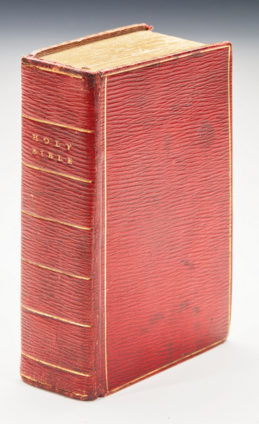 Brontë Bible at Auction - Image via Sotheby's.