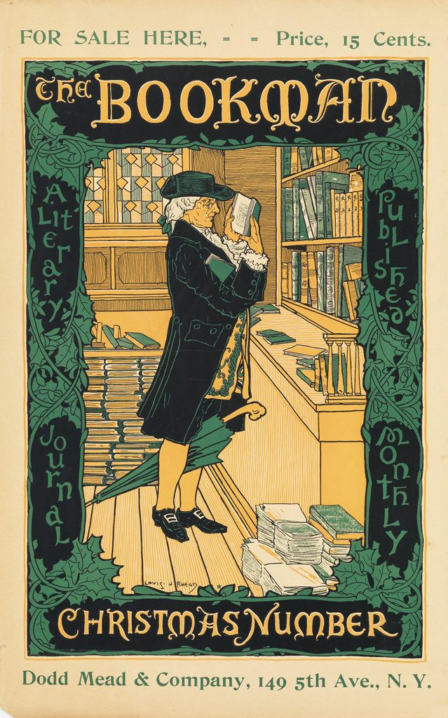 literary poster for The Bookman - Rare Finds from Fine Books Magazine & Biblio.com
