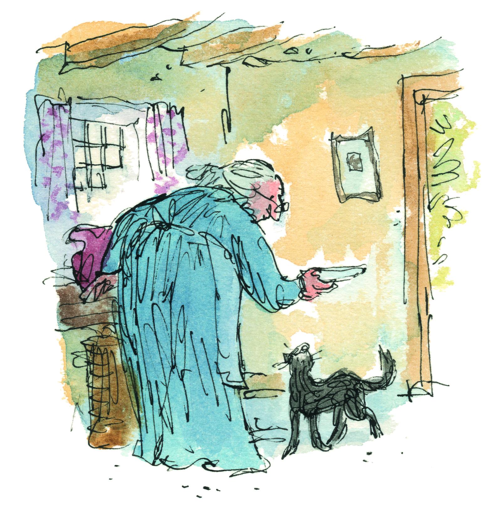 Quentin Blake illustrates Beatrix Potter book Kitty in Boots - Biblio.com and Fine Books Magazine