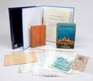 Miscellaneous materials relating to Hemingway's East African air safaris, from the collection of his pilot, Captain Roy Marsh