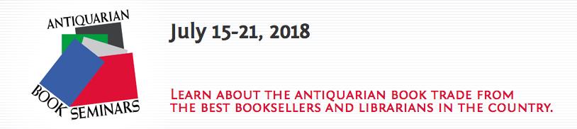 2018 Colorado Antiquarian Bookseller Seminar scholarship from Biblio!