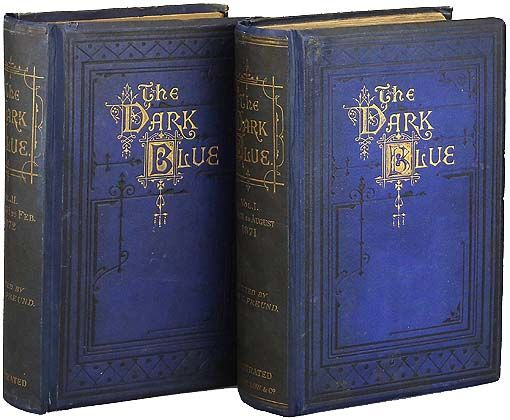 The Dark Blue magazine rebound into two editions, listed for sale on Biblio by Leonard Roberts, bookseller.