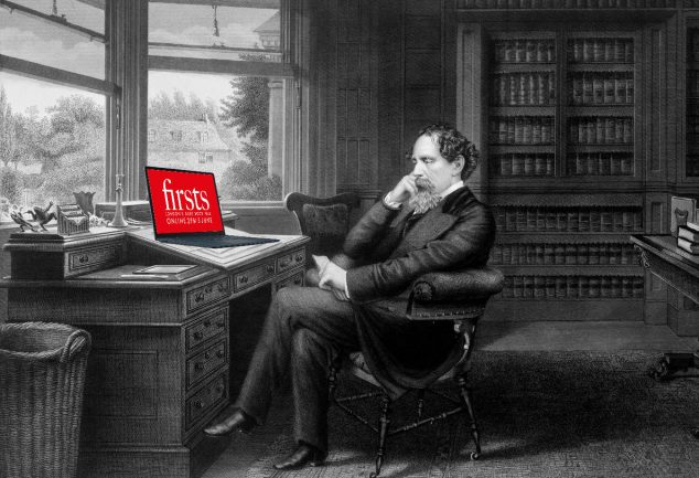 Charles Dickens At Desk Firsts Online